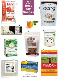 10 Best AIP Snacks: (all paleo & gluten-free too) real food for on-the-go.