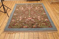 Floral sweedish carpet | From a unique collection of antique and modern russian and scandinavian rugs at https://www.1stdibs.com/furniture/rugs-carpets/russian-scandinavian-rugs/