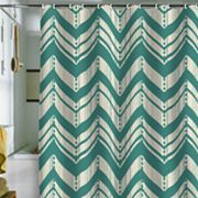 DENY Designs Heather Dutton Weathered Chevron Fabric Shower Curtain