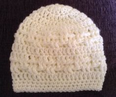 handmade crocheted hat for baby aged 0-3months