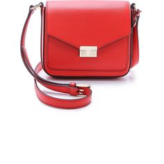 Tory Burch T Lock Mini Flap Cross Body Bag (£255) ❤ liked on Polyvore featuring bags, handbags, shoulder bags, masaai red, mini crossbody purse, leather cross body purse, red leather handbag, mini crossbody and leather handbags
