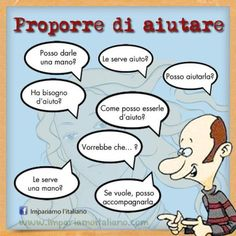 Proporre di aiutare Perfeziona il tuo italiano con www.impariamoitaliano.com
