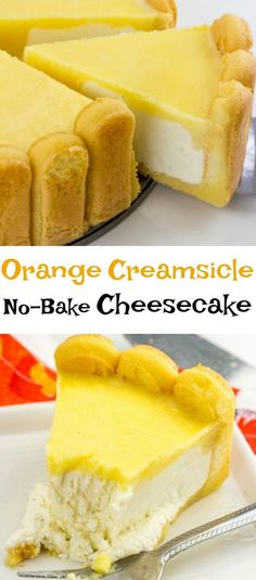 This Orange Creamsicle No Bake Cheesecake is the perfect mix of creamy vanilla and great orange flavor in a no-bake package for the perfect summer treat!