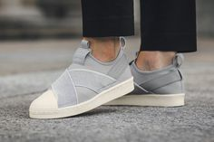 adidas Originals Superstar Slip-On Now Comes in Light Grey - MISSBISH | Women's Fashion Fitness & Lifestyle Magazine
