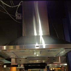 Our dream hood. It goes up and down so won't cut the top of a tall chef's head off when filming