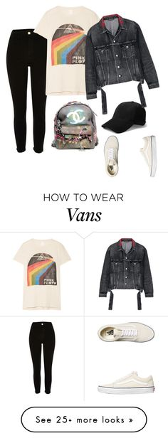"""""""Untitled #437"""" by cafria29 on Polyvore featuring River Island, Vans, MadeWorn, Balenciaga and Chanel"""