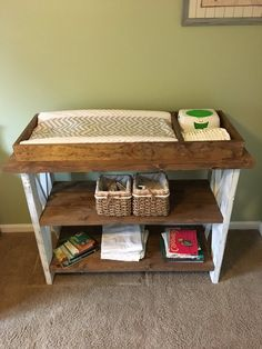 Items similar to Handmade customized baby changing table on Etsy – Baby Room 2020 Farmhouse Changing Tables, Crib With Changing Table, Baby Nursery Diy, Baby Room Diy, Diy Baby, Nursery Ideas, Room Ideas, Baby Table, Baby Room Furniture