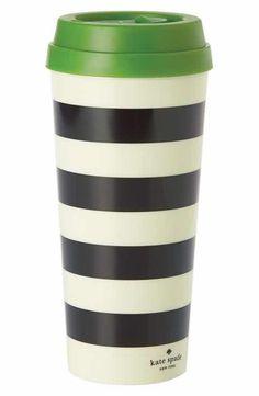 kate spade new york stripe thermal travel mug