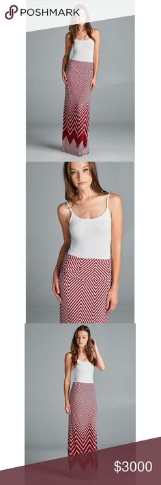 COMING SOON! $30 Beautiful patterned maxi skirt. 95% polyester 5% spandex Skirts Maxi
