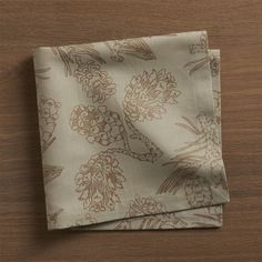 Petra Borner's detailed drawings of pinecones and needled boughs are printed in matte bronze metallic on natural linen-cotton napkins. Designed by Petra Borner55% linen and 45% cottonMachine wash cold, dry lowIron warm on reverseDo not bleach or dry cleanMade in India.