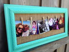 Clothesline Wire Hanging Picture Frame Clothespin Instagram Pictures Key West Blue Medium on Etsy, $38.00