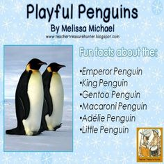 Penguin Writing FREEBIE ~ Read and write about 6 species of penguins