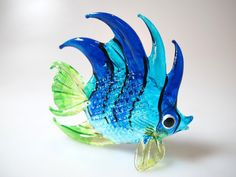 Underwater Handicraft MINIATURE HAND BLOWN GLASS Fish FIGURINE Collection # 68