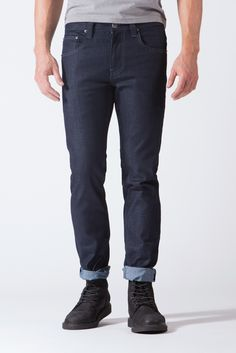 Spring St.  Skinny Raw Jeans in Blue Steel Raw Jeans 895c1914f55