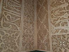 Detalhes das paredes do Palácio de Alhambra - Espanha - Granada
