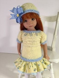 """""""Spring Dream"""" Made for Effner Little Darling 13"""" by Treasured Doll Designs"""