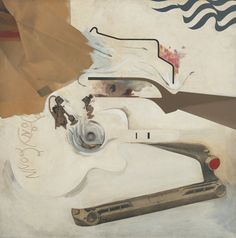Richard Hamilton, Glorious Techniculture, Oil and collage on panel, x cm x 48 Museum of Modern Art, New York Richard Hamilton Artist, Hamilton Painting, Pop Art, Stamp Printing, Communication Art, Collage Artists, High Art, Museum Of Modern Art, Artist At Work