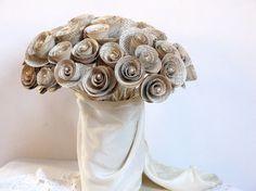 40 Alternative Wedding Bouquets (PHOTOS)    #alternative #bouquet #bouquets #bride #creative #flowers #non-traditional   15 - alternative wedding bouquets - paper roses books by thehappylibrarian