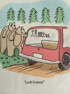 Funny Bear Menu Cartoon
