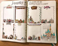 "279 Likes, 8 Comments - Bullet Journal (@mrs_bullets_journal42) on Instagram: ""Favorite Disney-themed place: Disneyland (CA) this place will always hold a special place in my…"""