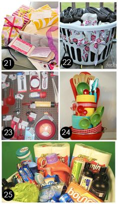 60 BEST {and Most Creative} Bridal Shower Gift Ideas..can use some of these as housewarming gifts also