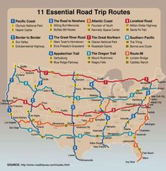 Road trip routes for the next place the USCG sends us.