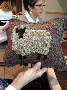 Love this hooked piece - used a proddy to create the sheep's wool.  It's great!