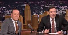 Kevin Spacey Cracks Jimmy Fallon Up With Hilarious Impressions On 'The Tonight Show' via LittleThings.com