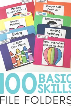 Need ideas to work on basic concepts for your toddler, preschooler, or special education / speech therapy student? These basic skill file folders are great for kids who need something they can do on t Special Education Activities, Autism Education, Education Logo, Special Education Classroom, Educational Activities, Teacher Resources, Educational Websites, Special Education Quotes, Texas Education