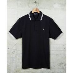 polo-fred-perry-negro-blanco
