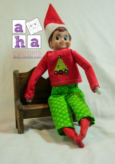 Jingle Shirt and Pants for Elf on the Shelf Sewing Pattern | Sewing Pattern | YouCanMakeThis.com
