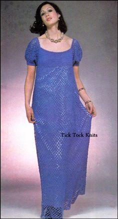 8fb0465f6118 No.395 Women s Regency Era Style Dress OR Tunic - PDF Crochet Pattern  Vintage - 1970 s Retro Crochet
