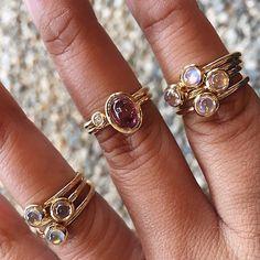 Mini ring stacks