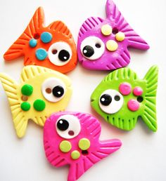 Button Big Fish handmade polymer clay buttons  5  by digitsdesigns, $8.50