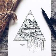 Swedish illustrator Josefine Svärd creates fantastical stippling art that captures the beauty of nature. Each pen drawing is composed of millions of tiny hand-drawn dots, bringing them to life in intricate detail. Doodle Art Drawing, Nature Drawing, Cool Art Drawings, Pencil Art Drawings, Art Drawings Sketches, Nature Sketch, Drawing Ideas, Dotted Drawings, Stippling Art