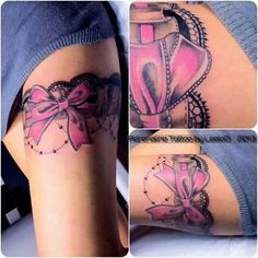 Bow Tattoo by briobabi33 Just black would be better