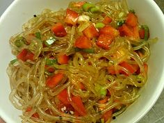 I'm eating my kelp noodle salad as I type this. :) What I'm eating was inspired by an Asian-infused salad I thoroughly enjoy found at my l. Raw Food Recipes, Salad Recipes, Kelp Noodles, Healthy Carbs, Noodle Salad, Lean Protein, Noodle Recipes, Healthy Living, Clean Eating