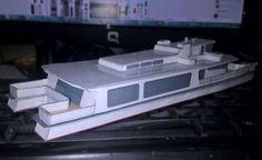 Cirrus Catamaran Free Ship Paper Model Download - http://www.papercraftsquare.com/cirrus-catamaran-free-ship-paper-model-download.html#Catamaran, #Cirrus, #Ship