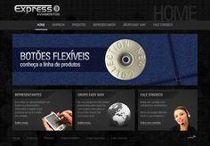 Desenvolvimento do website da empresa Expresso Aviamentos, uma empresa que trabalha com diversos componentes necessários para o pólo têxtil.