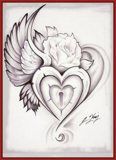 Resultado de imagen para corazon con cadenas para colorear