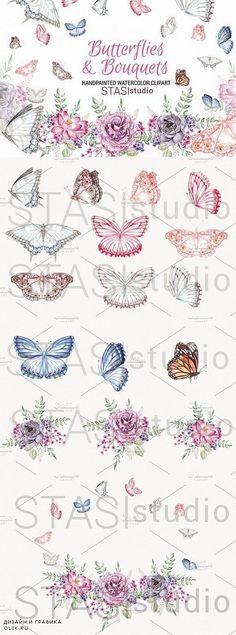 Watercolor Butterflies Clipart 1573215