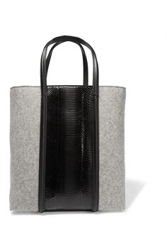 ALEXANDER WANG Prisma Elaphe And Felt Tote. #alexanderwang #bags #hand bags…