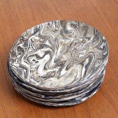 Mark Essen marble ceramic plates
