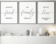 Decorate the walls in a kitchen Kitchen wall art Sitting Room Decor, Room Wall Decor, Diy Wall Decor, Bedroom Decor, Prayer Wall, Bless The Food, Lets Stay Home, Home Quotes And Sayings, Crazy Quotes