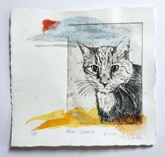 Victoria Savka - drypoint animals (2014- 2021) Drypoint Etching, Cat Allergies, Etching Prints, A Level Art, Mixed Media Artwork, Plexus Products, Printmaking, Whimsical, Moose Art