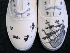 Custom Peter Pan Canvas Sneaker. $70.00, via Etsy.