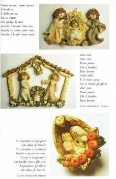 Decorazioni natalizie in Pasta al sale con asciugatura senza forno: Presepi