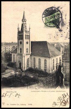 Berlin Luisenstadt, Kirche a. d. alten Jakobstraße, 1900.