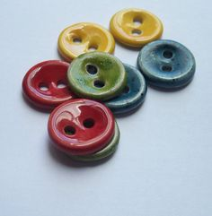 Multi Colour Ceramic Buttons by buttonalia on Etsy, $20.00
