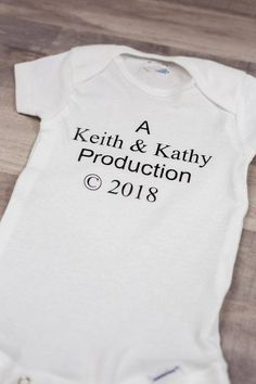 Custom Baby Clothes Leave in the note to seller section the name & year you need. Custom Baby Clothes Leave in the note to seller section the name & year you need I have sizes months cotton Ha. Baby Boys, Funny Baby Quotes, Baby Sayings, Funny Memes, Hilarious, One Piece Clothing, Leave In, Baby Shirts, Kids Shirts
